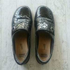 Clarks Collection Black Slip on Shoe Size 8.5